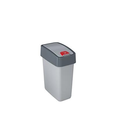 Keeeper 1060316000000 poubelle, plastique, argent, 29,5 x 18 cm