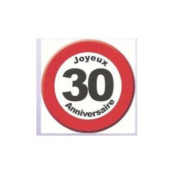 Panneau Decoratif Carton 50x50cm Joyeux Anniversaire 30 Ans Objet