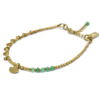 Bracelet perle métal - Onyx et kulhari - Nataraj