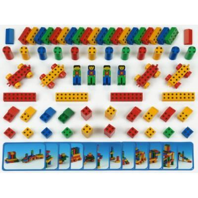 Klein - 0652 - jeu de construction - set ecole manetico 66 pièces et 12 cartes, sous sachet