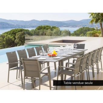 Table extensible rectangulaire Azua Alu 8/12 places Ardoise ...