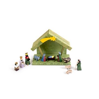 Small Foot Company 7961 Crèche avec Figurines pour Décoration de Noël Multicolore