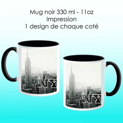 Mug noir avec design New York city