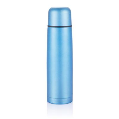 Bouteille thermos en acier inoxydable, bleu