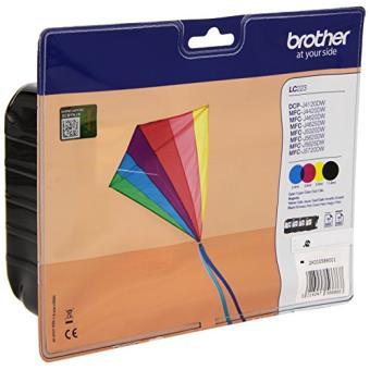 Brother Lc 223 Cartouche D Encre D Origine Value Pack Noir Cyan Magenta Jaune Papier Pour Imprimante Achat Prix Fnac