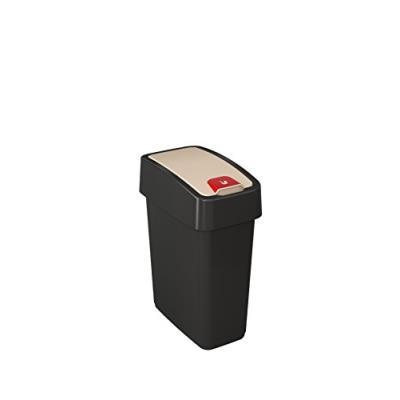 Keeeper 1060382600000 poubelle, plastique, graphite, 29,5 x 18 cm