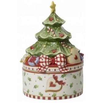 VILLEROY & BOCH - Boîte à biscuits en porcelaine Arbre de Noël ...
