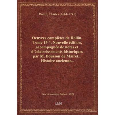Oeuvres complètes.... Tome 15