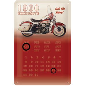 Calendrier en métal Harley Davidson