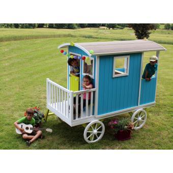 cabane enfant roulotte en bois carry soulet maisons de. Black Bedroom Furniture Sets. Home Design Ideas