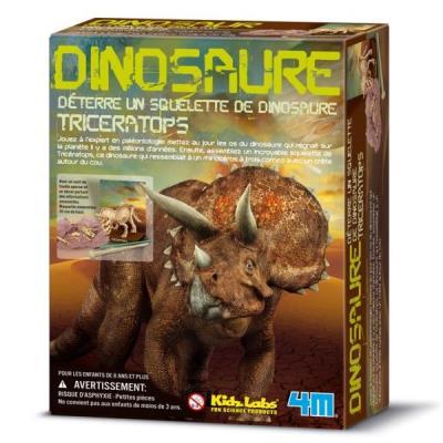 Deterre ton dinosaure Triceratops coffret construction maquette enfants 8 ans +