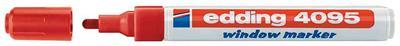 edding - 4095 window marker, pointe ogive, rouge