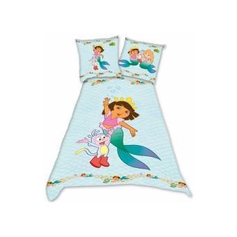 Dora L Exploratrice Dora Mermaid Dbo Parure Linge De Lit 200 X 140