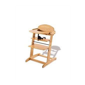 Chaise haute évolutive en bois massif 'Bruno' Pinolino