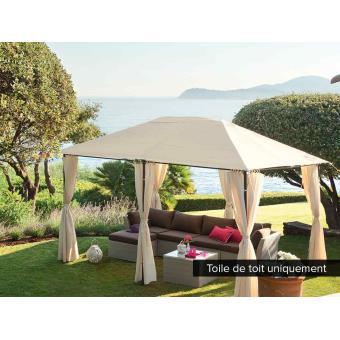 Toile de toit pour la tonnelle Santorini 3 x 4 m Ecru - Accessoires ...