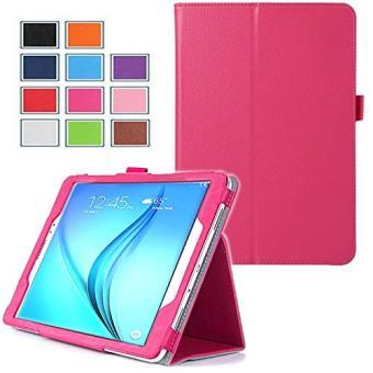 Housse Samsung Galaxy Tab A 7 pouces 2016 / Tab A6 SM-T280/SM-T285 Cuir Style rose avec Stand - Etui coque de protection tablette Samsung Galaxy Tab A ...