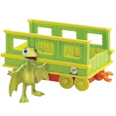 Le Dino Train – Tiny et son Wagon – Figurine et Véhicule