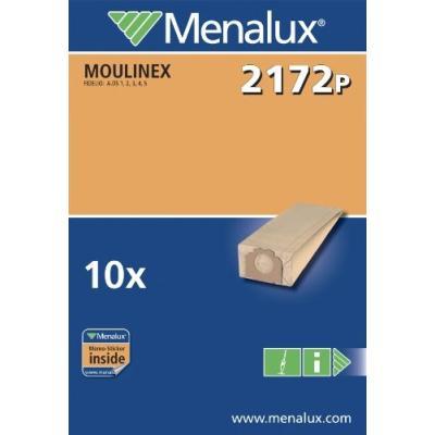 MENALUX 2172 P LOT DE 10 SACS POUR ASPIRATEUR MOULINEX