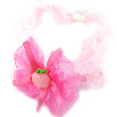Bandeau enfant 'Fraise' rose