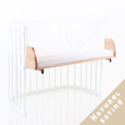 Extension de lit berceau babybay naturel satiné pour maxi