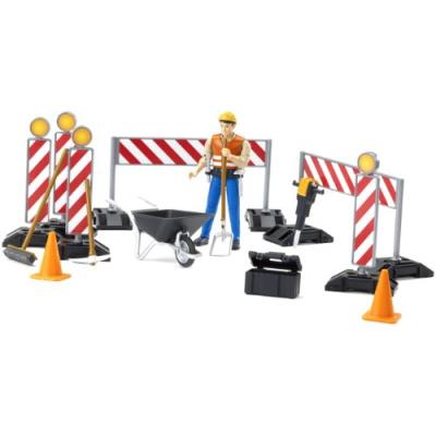 Bruder - 62000 - set de construction bworld avec figurine