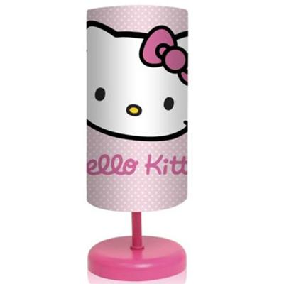 Lampe de chevet cylindrique Hello Kitty pois