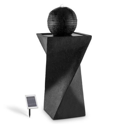 DURAMAXX fontaine solaire de forme sphérique solaire 200 l/h LED batterie basalte