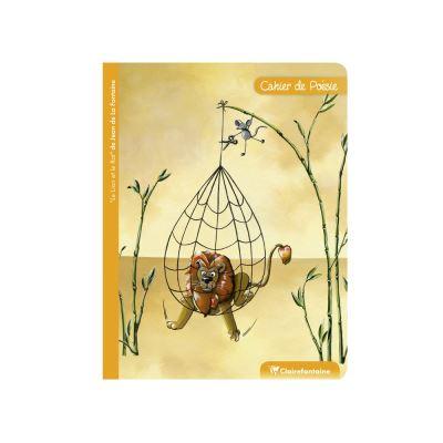 Cahier de Poésie - 17 x 22 cm - Le Lion Et Le Rat