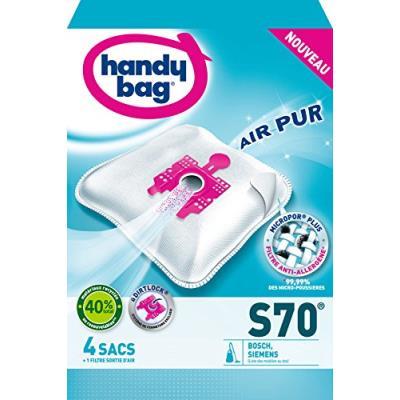 Handy bag s70 sac aspirateur microfibre anti-allergène + filtre moteur bosch arriva siemens smily super sx