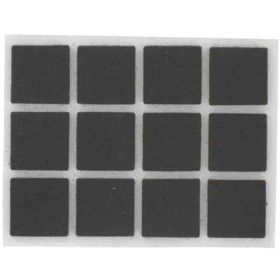 PVM - Patin feutre marron adhésif 22 x 22 mm - Lot de 12