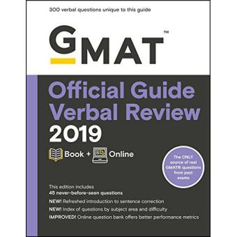 GMAT Official Guide Verbal Review 2019: Book + Online (Gmat Official Guides) - [Version Originale]