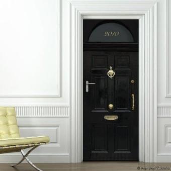 Stickers de porte en trompe l 39 oeil porte d 39 entr e londonienne londres d cors et stickers - Trompe l oeil de porte ...