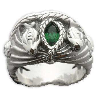 Bague le Seigneur des Anneaux Barahir Aragorn En argent massif 925 et  cristal vert, Autre moyen gadget, Top Prix