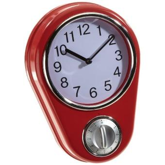 Tv das original 04191 horloge de cuisine r tro maxxcuisine 50s avec minuteur rouge achat - Horloge de cuisine rouge ...