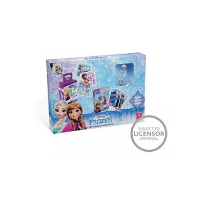 Shuffle - 100221907 - la reine des neiges - coffret cadeau 2 jeux + figurine