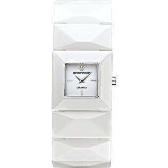 ... Montre Femme Emporio Armani Ceramica AR1436 Bracelet large céramique  blanche - Montre Femme - Achat ... 0cefb0afba7a