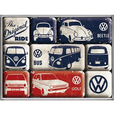 9 mini-magnets Volkswagen