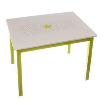 Table En Bois Pour Enfant Vert Et Blanche L 77 X 55 H 48 Cm PEGANE Chaise