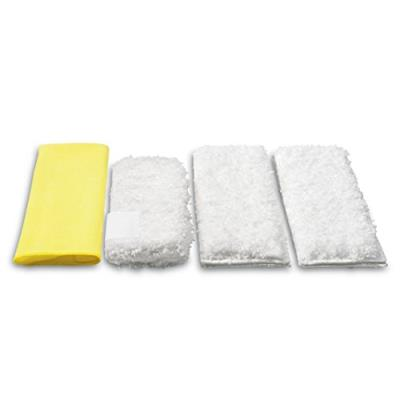Karcher set of 4 premium velour micro-fibre cleaning cloths for steam cleaners - specifically designed for kitchen cleaning