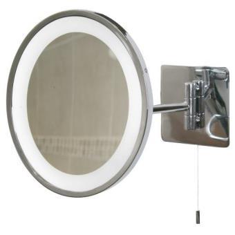 Oval Swing Arm Bathroom Mirror Light Polished Chrome Miroir Achat Prix Fnac