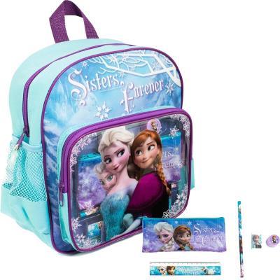 Sambro DFR-6049 Sac à dos illustré La Reine des Neiges (Frozen) avec accessoires