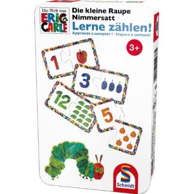 51238 - SCHMIDT SPIELE - DIE KLEINE RAUPE NIMMERSATT - LERNE Z?HLEN!