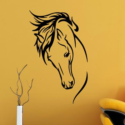 Pick and Stick Sticker Mural Dame douce - 55 x 100 cm, Noir
