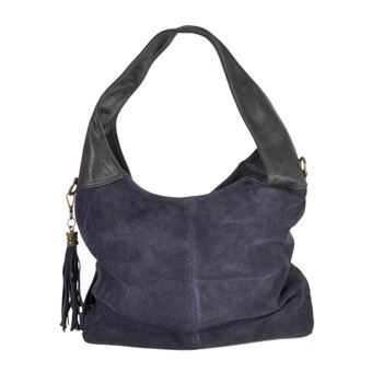 b76b03754e Sac en daim à pompon bleu - collection cmlpb, Sac shopping, sac loisirs,  Top Prix | fnac