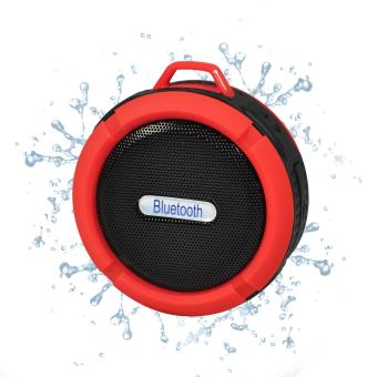 enceinte bluetooth tanche rouge et noir avec ventouse et mousqueton koolstar bt01 enceintes. Black Bedroom Furniture Sets. Home Design Ideas