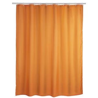 Wenko 20039100 Rideau De Douche En Textile Orange Anti Moisissure 180x200 Cm