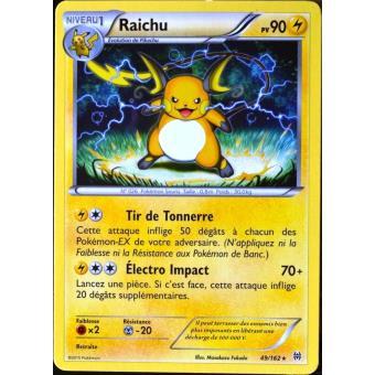 prix carte pokemon rare Raichu 90pv 49/162 XY Impulsion Turbo Carte Pokemon Rare neuve fr