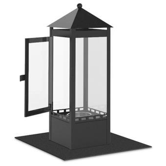chemin e design de table au bio ethanol mod le lanterne. Black Bedroom Furniture Sets. Home Design Ideas