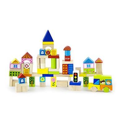 New classic toys - 0806 - jeu de construction - cubes - décoration ville - 75 pièces
