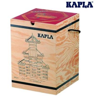 Jeu de construction Kapla Malette 280 planchettes naturel+ 1 livre d'art 3 ans +